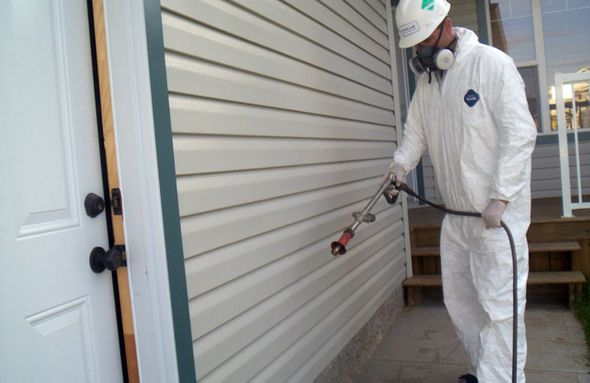 spraying house for pests
